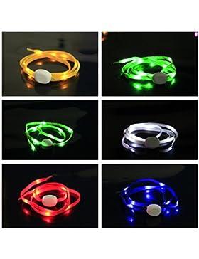 Pet Leso® 1 Paar LED Nylon Leuchten Spitzeen Blinkende Spitzee -Mehrfarbig
