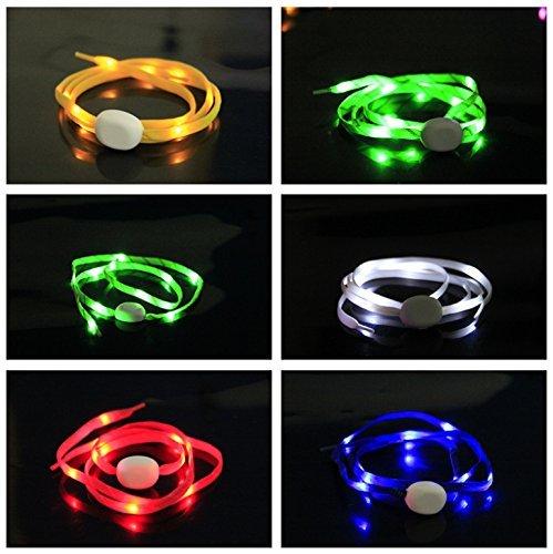 Pet Leso® 2 Paar LED Nylon Leuchten Spitzeen Blinkende Spitzee (Kostüme Eins Zwei Sache)