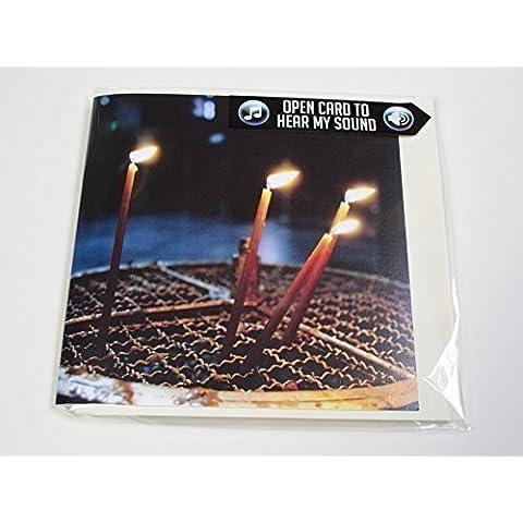 Età consigliata candele Musical Christmas in the Church of the Nativity Bethlehem., con biglietto di auguri e sentire 15-20 secondi O Come tutti i Ye fedeltà sung in coro, dal della Cattedrale di Chichester