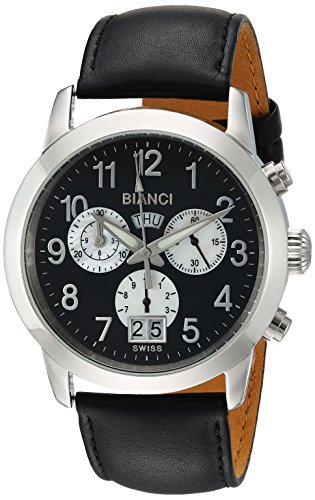 ROBERTO BIANCI WATCHES Women's 'Donati' Swiss Quartz Stainless Steel and Leather Casual Watch, Color:Black (Model: RB18570)