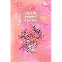 Art Is A Journey: Sketchbook for Artist ~ Funky Novelty Gift for Art Lovers, Small Blank Sketch Book