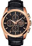 Tissot Herren-Armbanduhr Automatik One Size, schwarz, Gold