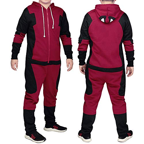 B-kreative Erwachsene Anime Sleepwear Deadpool Kostüm Pyjamas Superhero -