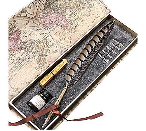 Pluma de escritura antigua y en buen estado, de cobre y con punta de metal PA-14