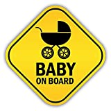 Baby On Board Pram Funny Warning Sign Hochwertigen Auto-Autoaufkleber 12