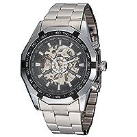 WINNER Heren Classic Luxe Transparant Automatisch Skeleton Mechanisch RVS Horloge
