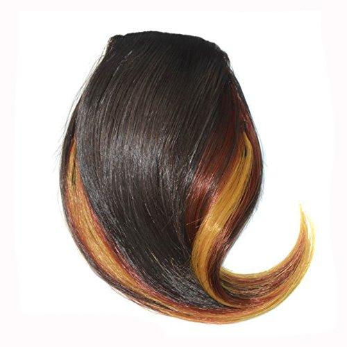 Makefortune 2019 Damen Perücke,Frauen Perücken Beauty Pretty Girls Clip On Clip In Front Hair Bang Fringe Hair Extension Piece Thin Frauen Make up Farbe knallt Mädchen ()