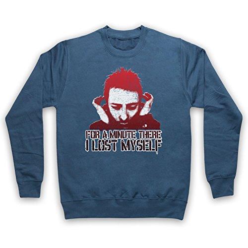 Inspired Apparel Inspired by Karma Police Indie Rock Anthem Thom Yorke Unofficial Erwachsenen Sweatshirt, Airforce Blau, Medium Air Force-sweatshirt