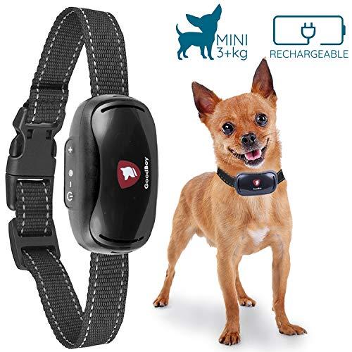 Good Boy Mini-Vibrationshalsband für kleine Hunde - Wiederaufladbarer und wetterbeständiger Anti-Bellhalsband für kleine und mittlere Hunde ab 2,5 kg und Halsumfang von 12 bis 48 cm ohne Schock