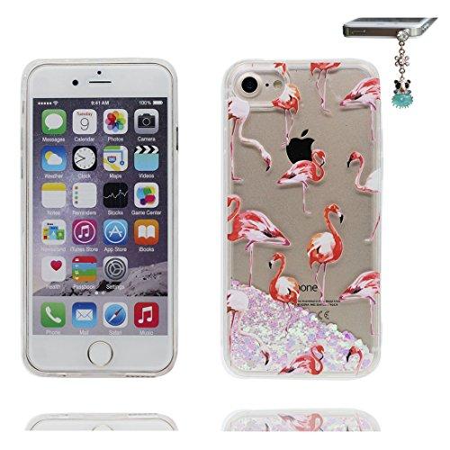 """iPhone 6S Plus Coque, Skin étui iPhone 6 Plus / 6S Plus 5.5"""", talon hauts Design Glitter Bling Sparkles Shinny Flowing iPhone 6 Plus Case 5.5"""", résistant aux chocs & Bouchon anti-poussière # 4"""