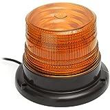 MATCC Lumière Stroboscopique Gyrophare pour Voiture avec Fixation Magnétique Camion Lumières D'avertissement Feux Stroboscope Flash avec 12v Plug Allume-cigare Jaune