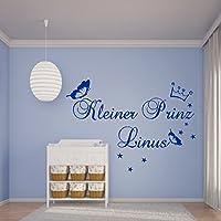 Wandtattoo ~HM~AA231 Kinderzimmer Kleiner Prinz **Namen wie gewünscht** Wandaufkleber Jungen,Buben personalisiert Farb./Größenwahl jetzt auch in Pastell-Farben