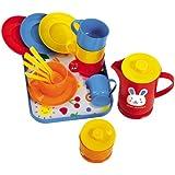 Kaffeeservice 18 tlg. Puppengeschirr Puppen-Speiseservice Kinderküche Spielküche