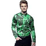 FANZHUAN Hemd Männer Herren Hemd Mintgrün Männer Hemden Slim Fit Herren Hemden Langarm