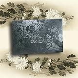 Schwarz Vintage Floral Broderie Save the Date Hochzeit Karten Inc Passende Briefumschläge & Einsätze für Sie zu drucken X 10