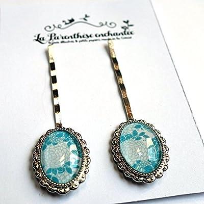 Les petites barrettes, hortensias bleus
