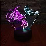 Ponana Motocicletta Volante Led 3D Nightlight Colorful Touch Ricarica Di Lampada Visiva Stereo Atmosfera Regalo Di Compleanno Luce 3D