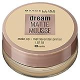 Maybelline Dream Matte Mousse Make-up Nr. 16 Vanilla, mattierendes Make-up mit luftgeschlagener Mousse-Textur, für ein luftig-leichtes Tragegefühl und wunderbar zarte Haut, 18 ml