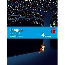 Lengua. 4 Primaria. Savia. Andalucía  - Pack de 3 libros - 9788467575392