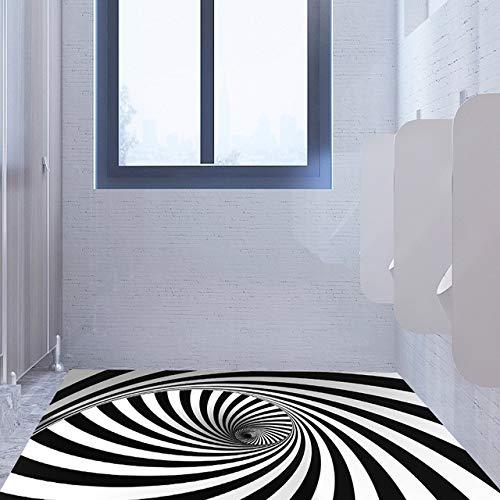 Fototapete Wandaufkleber 3D Whirlpool Bodenaufkleber Schwarzweiß Partition China A