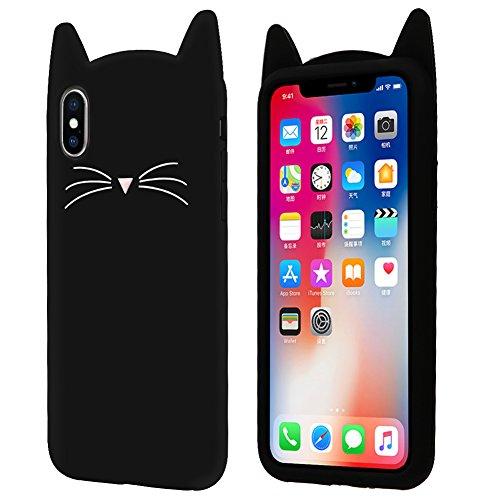 Características del producto   1. Solo apto para iPhone 8 Plus / 7 Plus  2. Hecho de silicona resistente a los arañazos, flexible y durable 3. El patrón de bigote de gato fino y las orejas de gato prominentes hacen que tú y tu teléfono luzcan más gl...