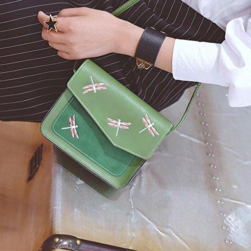 BZLine® Frauen-Geldbeutel Crossbody Schulter Kurier-Beutel Taschen, 18cm *16cm *6cm Grün