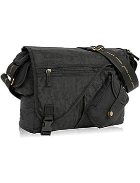 ELEPHANT DIN A4 Umhängetasche CRAFT Messenger Bag Tasche SCHWARZ