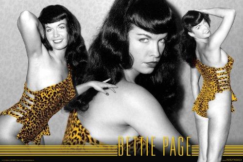 Bettie Page - Leopard Poster Drucken (60,96 x 91,44 cm) Bettie Page Leopard