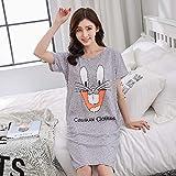 Handaxian Sommer Frauen Kurzarm-Pyjamas Heimtextilien Karton Pyjamas Frauen Casual Pyjamas lieben Damen Mädchen Pyjamas 4 XXL