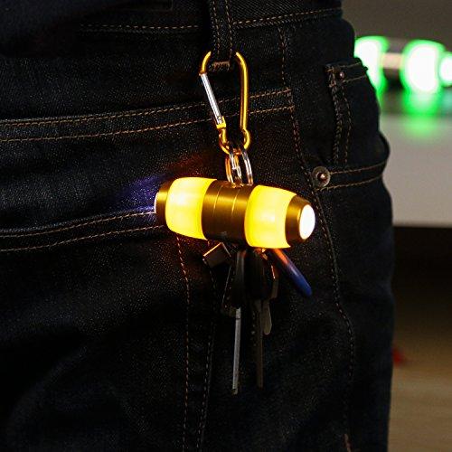 West Radfahren Fahrrad Lenker Bar End Plug Leichtes Zubehör Aluminium-Legierung LED Lampe für Fahrrad MTB Road Bike Dekoration 1Paar Rot Grün Orange Orange