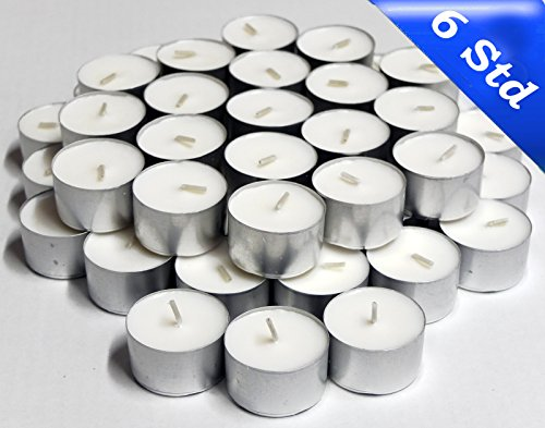 NK Candles Gastro Tea Lights (6Ã'Hours Burning Time StyleÃ'-Ã'LP24135Ã'in a Flat Pack, NK Candles Tealights, Professional Quality Exclusive to Northern Lights Kontor, white, Höhe / Ø : ca. 14 x 38 mm by nk candles