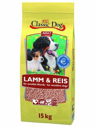 Classic Dog 40027 Lamm und Reis 15 kg - - Dog Classic Hundefutter