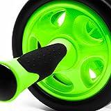 Bauchtrainer »TheDoubleWheel« zum effektives Bauchmuskeltraining. Einfacher zusammenbau, transportabel und leicht verstaubar Ideal zum Training der Bauchmuskulatur für schnelle Erfolge beim Sport. Steigerung der Trainingsintensität durch saubere Roll-Ups und Stärkung der Rückenmuskulatur ( Rückentraining ) hellgrün - 4