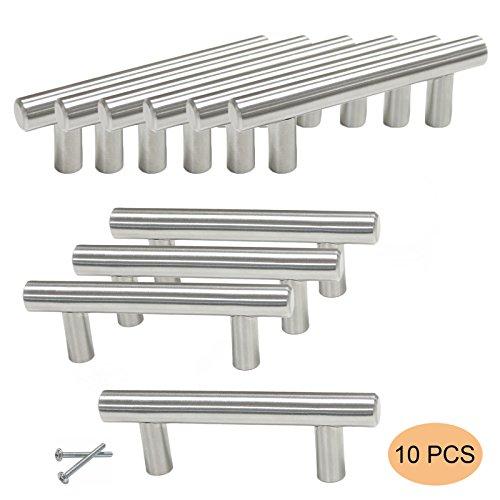 10 X probrico Lochabstand 64 mm Edelstahl Möbel Schrank Tür Griffe Küche Schrank Schublade ziehen Knopf,