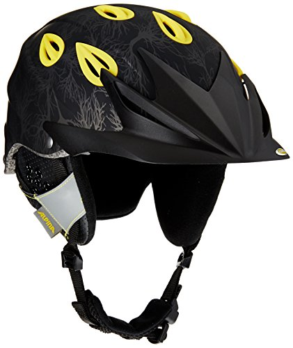 ALPINA Skihelm Grap Cross, Black-Yellow Matt, 54-57, 9057234