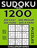 Sudoku Book 1,200 Puzzles, 300 Easy, 300 Medium, 300 Hard and 300 Extra Hard: Sudoku Puzzle Book With Four Levels of Difficulty To Improve Your Game: Volume 39 (Sudoku Book Challenger Series)