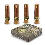 Set di 4 Cartomizzatoredi ricambio (ricarica preriempita, sapore: USA Mixtabacco chiaro) per ISMK E-sigaro UR-Cigar (taglia: L) (senza nicotina o tabacco)