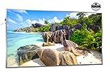 600W Infrarotheizung mit Bild (Strand) - Smart & Nice Serie mit Ein-/Ausschalter - Fern Infrarotheizung mit 7 Jahren Garantie