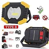 Faro da lavoro portatile con batteria 2400Mah a energia solare, tenda per lanterna, faro ricaricabile con luce USB per caccia, campeggio in laterizio C