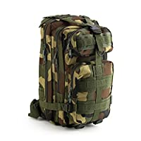 AllRight 30L Military Tactical Backpack Camouflage Rucksacks For Men Woodland Camouflage