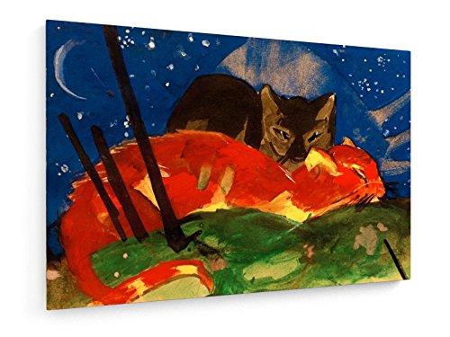 franz-marc-dos-gatos-1913-60x40-cm-weewado-impresiones-sobre-lienzo-muro-de-arte-antiguos-maestros