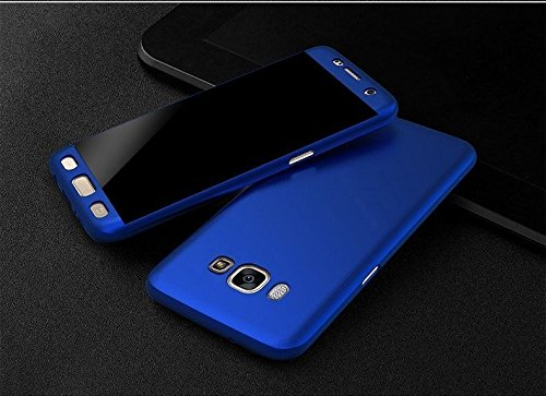 IDEAL For Samsung Galaxy J2-6 (New 2016 Edition) J210 - IDEAL iPaky 360 Degree Full Body All Round Protection (Front & Back Cover) With Tempered Glass For Samsung Galaxy J7-6 (New 2016 Edition) J710 - [Front + Back] - BLUE