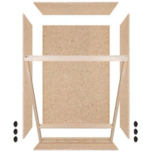 Repiterra® Hoch-Terrarium aus Holz 60cmx120cmx60cm mit Seitenbelüftung aus OSB Platten mit Floatglas - 5