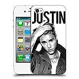 Head Case Designs Offizielle Justin Bieber Kalender Schwarz und Weiss Purpose Ruckseite Hülle für Apple iPhone 4/4S