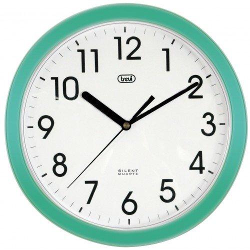 Trevi OM 3301  - Orologio da Parete - Quarzo silenzioso - 25cm - (Quarzo Verde)