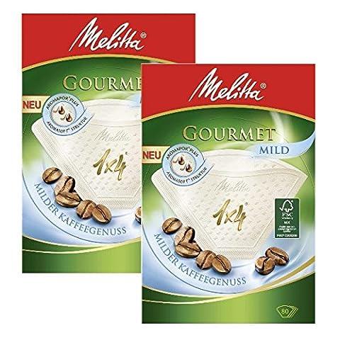 2boîtes de Melitta–Filtres Taille 1x 4Gourmet Café Doux, Lot de 80