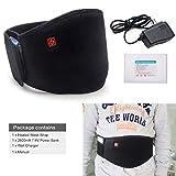 Arris calefacción cintura cinturón/Lumbar terapia de calor Wrap/climatizada cinturón/7,4V batería recargable con para alivio del dolor muscular tensión calentador de espalda