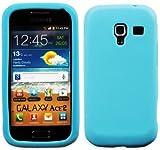 Luxburg In-Colour Design Custodia Cover per Samsung Galaxy Ace 2 GT-I8160 colore turchese, in silicone