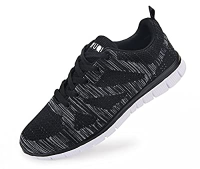 Vibdiv Men's Lightweight Lace-Up Mesh Distance Running Shoes