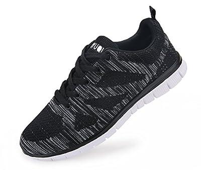 Vibdiv Men's Lightweight Lace-Up Mesh Distance Running Shoes